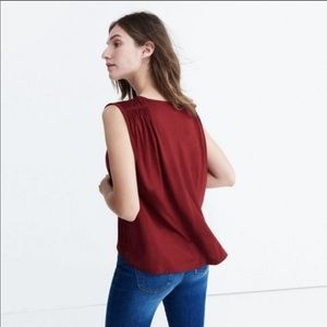 Madewell Red Overture Swing Tank Top - Small